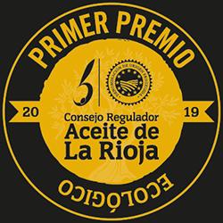 Primer premio aceite ecológico 2019 DOP Aceite de La Rioja