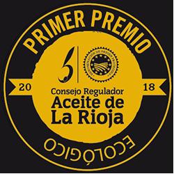 Primer Premio Aceite Ecológico de La Rioja 2018